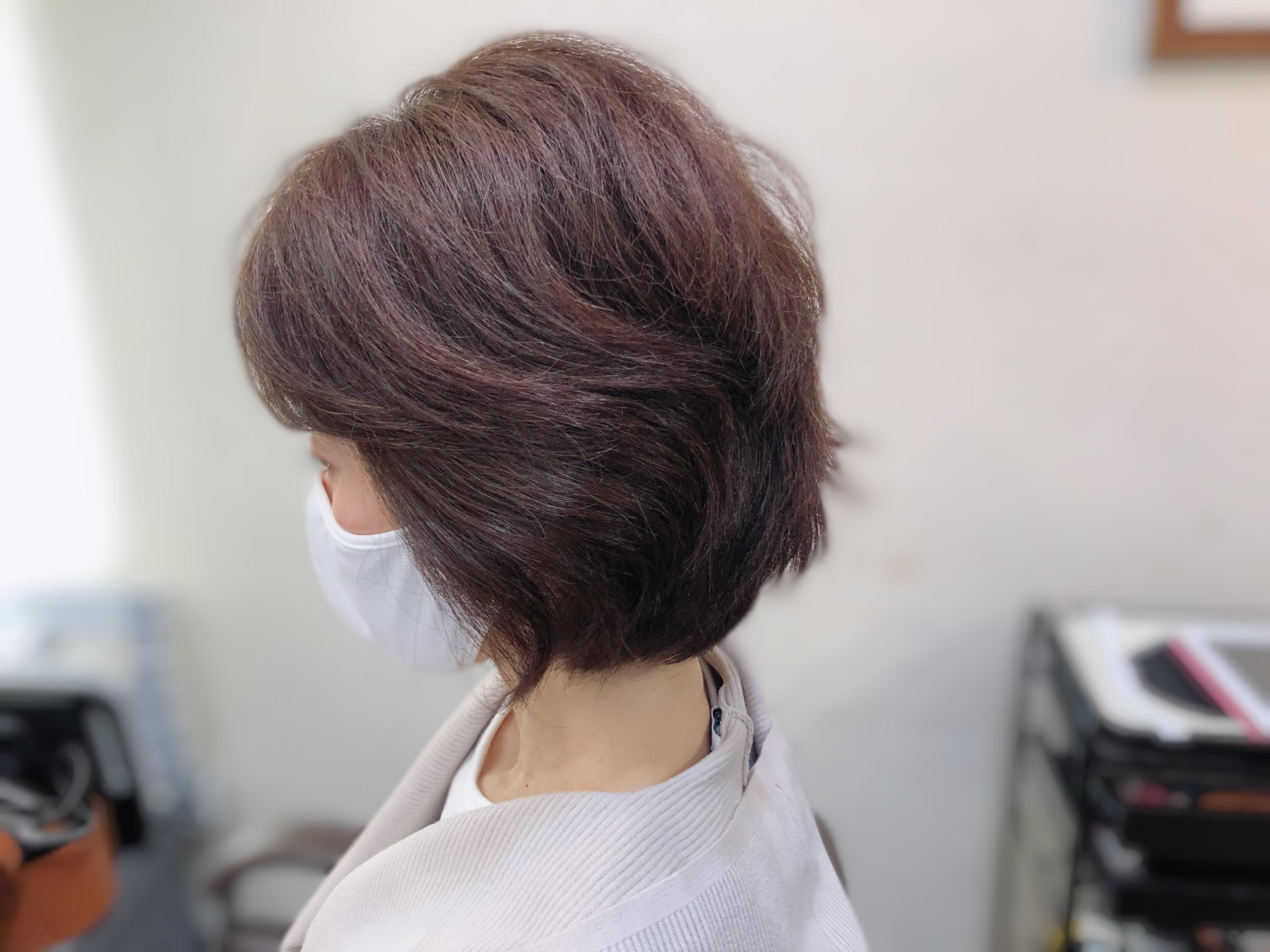 カラーがしみるくせ毛をショートスタイルに(動画)